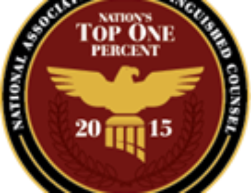 Marc Patoile Selected to 2015 Nation's Top One Percent by the National Association of Distinguished Counsel